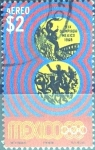 Stamps : America : Mexico :  Intercambio nf4b 0,50 usd 2 p. 1968