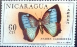 Stamps : America : Nicaragua :  Intercambio 0,25 usd 60 cent. 1967