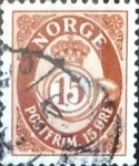 Stamps : Europe : Norway :  Intercambio 0,20 usd 15 o. 1952