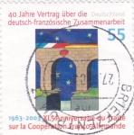 Stamps Germany -  40 ANIVERSARIO DEL TRATADO SOBRE LA COOPERACIÓN FRANCO-ALEMANA