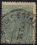 Stamps Europe - Spain -  ESPAÑA 1879 201 Sello Rey Alfonso XII 5c Usado