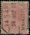 Stamps Europe - Spain -  ESPAÑA 1879 202 Sello Rey Alfonso XII 10c Usado