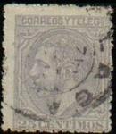 Stamps Europe - Spain -  ESPAÑA 1879 204 Sello Alfonso XII 25c Usado