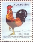 Stamps Norway -  Intercambio agm2 0,20 usd 2,50 k. 1984