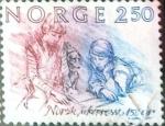 Stamps Norway -  Intercambio cxrf 0,20 usd 2,50 k. 1984