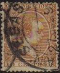 Stamps Spain -  ESPAÑA 1889-99 217 Sello Alfonso XIII 10c. Tipo Pelón Usado