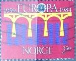 Sellos de Europa - Noruega -  Intercambio crxf2 0,40 usd 2,50 k. 1984