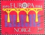 Stamps Norway -  Intercambio cxrf 0,40 usd 2,50 k. 1984