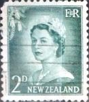 Stamps New Zealand -  Intercambio 0,20 usd 2 p. 1956
