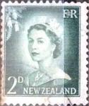 Sellos de Oceania - Nueva Zelanda -  Intercambio 0,20 usd 2 p. 1956
