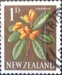 Sellos de Oceania - Nueva Zelanda -  Intercambio 0,20 usd 1 p. 1960