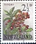 Sellos de Oceania - Nueva Zelanda -  Intercambio 0,20 usd 2,5 p. 1961