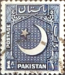 Stamps : Asia : Pakistan :  Intercambio 0,65 usd 1 A. 1950