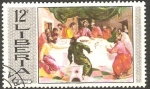 Stamps Liberia -  La cena, de El Greco