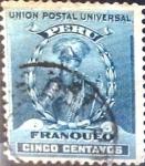 Stamps : America : Peru :  5 cent. 1899