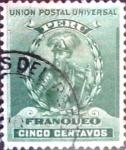 Stamps : America : Peru :  5 cent. 1897