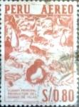 Stamps Peru -  Intercambio 0,20 usd 80 cent. 1960