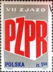 Stamps Poland -  Intercambio 0,20 usd 1,50 z. 1975