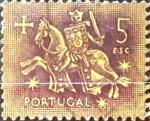 Stamps : Europe : Portugal :  Intercambio 0,20 usd 5 e. 1953