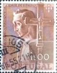 Stamps : Europe : Portugal :  Intercambio cxrf 0,25 usd 1 e. 1954
