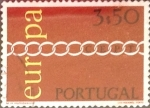 Stamps : Europe : Portugal :  Intercambio 0,50 usd 3,50 e. 1971