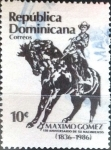 Stamps : America : Dominican_Republic :  Intercambio agm2 0,20 usd 10 cent. 1986