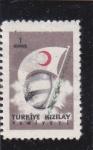 Stamps Turkey -  BANDERA