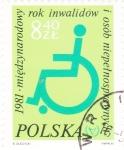 Stamps Poland -  DIBUJO SILLA DE RUEDAS