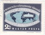 Sellos de Europa - Hungría -  MAPA MUNDIAL