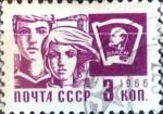 Stamps Russia -  Intercambio 0,20 usd 3 k. 1966