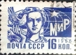 Stamps : Europe : Russia :  Intercambio pxg 0,20 usd 16 k. 1966
