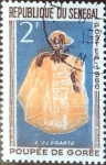 Stamps : Africa : Senegal :  Intercambio 0,20 usd 2 fr.  1966
