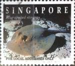 Sellos de Asia - Singapur -  Intercambio aexa 0,40 usd 20 cent. 1994