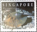 Stamps : Asia : Singapore :  Intercambio pxg 0,40 usd 20 cent. 1994