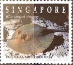 Stamps : Asia : Singapore :  Intercambio 0,40 usd 20 cent. 1994