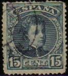 Stamps Spain -  ESPAÑA 1901-5 244 Sello Alfonso XIII 15c. Tipo Cadete Usado