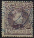 Sellos de Europa - España -  ESPAÑA 1901-5 245 Sello Alfonso XIII 15c. Tipo Cadete Usado