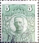 Sellos de Europa - Suecia -  Intercambio 0,20 usd 5 o. 1911