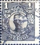 Sellos de Europa - Suecia -  Intercambio 0,30 usd 1 k. 1919