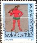 Stamps : Europe : Sweden :  Intercambio 0,20 usd 1,90 k. 1986