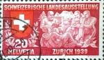 Sellos del Mundo : Europa : Suiza :  Intercambio ma4xs 0,20 usd 20 cent. 1939
