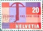 Sellos de Europa - Suiza -  Intercambio 0,20 usd 20 cent. 1958