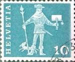 Sellos del Mundo : Europa : Suiza : Intercambio 0,20 usd 10 cent. 1960
