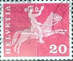 Sellos de Europa - Suiza -  Intercambio 0,20 usd 20 cent. 1960