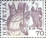 Sellos del Mundo : Europa : Suiza : Intercambio 0,30 usd 70 cent. 1977