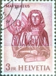 Stamps : Europe : Switzerland :  Intercambio 0,20 usd 3 fr. 1961