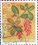 Stamps : Europe : Switzerland :  Intercambio ma4xs 0,20 usd 20 + 10 cent. 1976