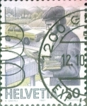 Stamps Switzerland -  Intercambio 0,35 usd 50 cent. 1987