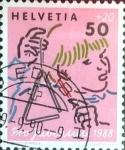 Sellos de Europa - Suiza -  Intercambio 0,30 usd 50 + 20 cent. 1988