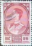 Stamps : Asia : Thailand :  Intercambio 0,20 usd 25 s. 1962